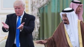 الرئيس دونالد ترامب والعاهل السعودي الملك سلمان