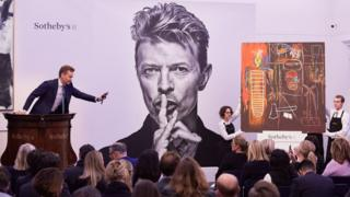 Bowie auction at Sotheby's with Jean-Michel Basquiat's Air Power