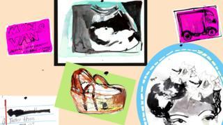 婴儿篮、超声波照片