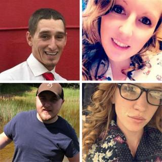 The four victims of the shooting