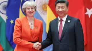 Theresa May meets Xi Jinping