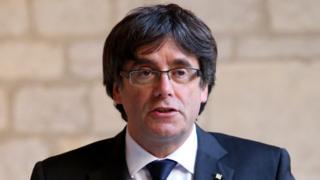Former Catalan leader Carles Puigdemont