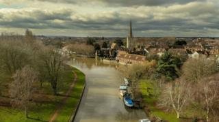 A shot of Abingdon from the air