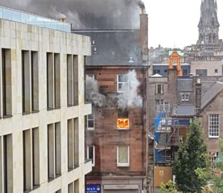'Explosion' and fire at Edinburgh tenement block