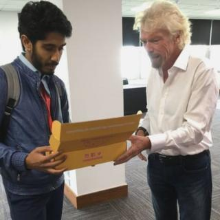 Mohsin Muhammed and Sir Richard Branson