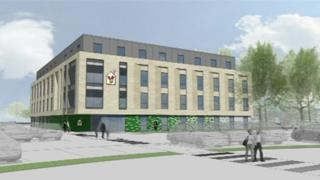 An artist's impression of how the new unit at the John Radcliffe would look