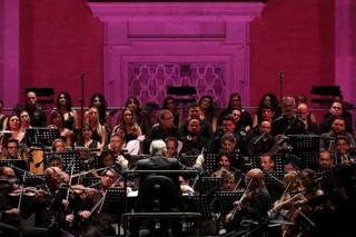 Ennio Morricone conducts the Orchestra Roma Sinfonietta in 2017