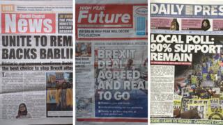 Three 'fake newspapers'