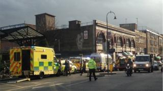 Emergency services at Kentish Town