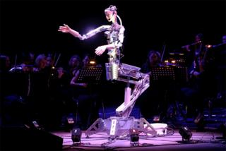 in_pictures A robot conducts an orchestra