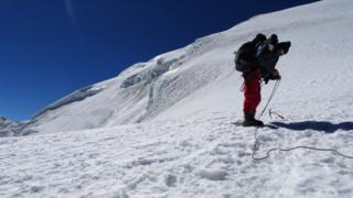 Robert Rauch en la montaña.