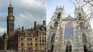 Bradford Town Hall and York Minster