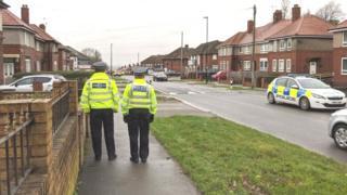Police on the Arbourthorne estate