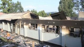 Lokacin da dalibai suka sanya wuta a makarantar Itierio Boys High School a bara