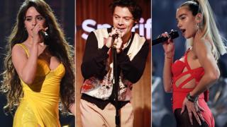 Camila Cabello, Harry Styles, Dua Lipa