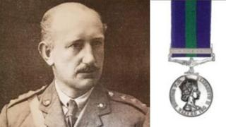 Major Herbert Baker and Malaya medal
