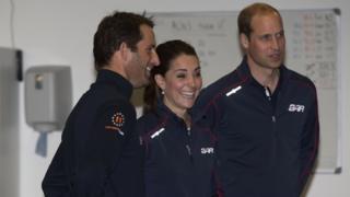 William and Kate meet Sir Ben Ainslie