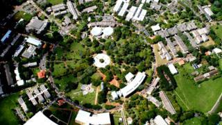 Vista aérea do campus da Unicamp em Barão Geraldo