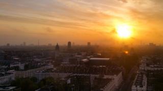 London sunrise