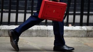 george osborne and budget box