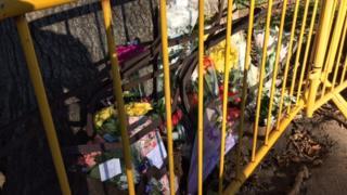 Floral tribute to crash victim