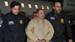 El Chapo Guzman katikati