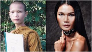 Mimi Tao lúc 13 tuổi (trái) và bây giờ