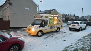 Ice cream van in Merhyr Tydfil