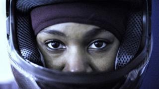 Akuoma Omeoga, 24 ans, freineuse de l'équipe de bobsleigh du Nigeria