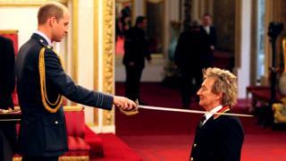 Принц Уильям и певец Род Стюарт