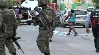 Troops on the streets in Jamaica