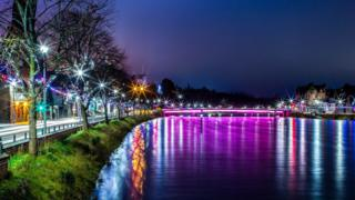 Lights in Inverness