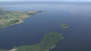 Aerial view of part of Lough Neagh