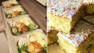 Home-made roast dinners and cakes