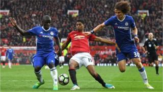 إحدى مباريات الدوري الانجليزي الممتاز لكرة القدم