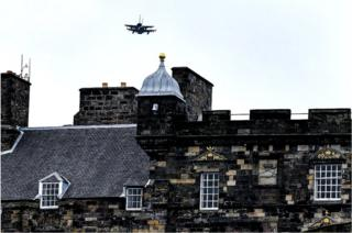 in_pictures RAF Typhoons flew over Edinburgh Castle