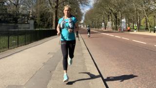 Sophie Raworth running
