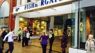 Police at Fishergate