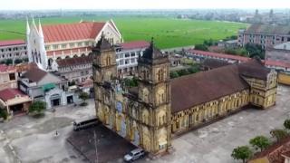 Nhà thờ Bùi Chu hoàn thành năm 1885, đã qua hai lần trùng tu