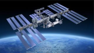 Imagem da Estação Espacial Internacional