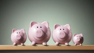 A selection of piggy banks