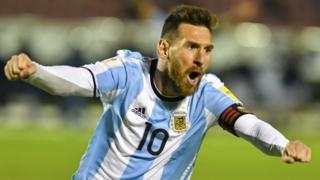 Lionel MEssi festejando un gol