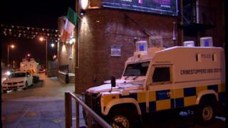 The scene of the fight in west Belfast