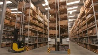 Energy firm's warehouse