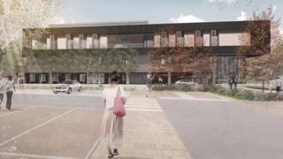 Artist's impression of Heatherwood Hospital