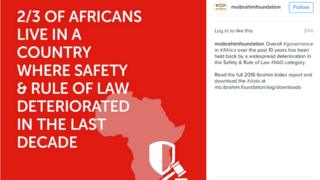 Rapport sur la gouvernance africaine de la fondation Mo Ibrahim