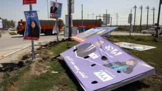 حملات انتخابية في مدينة النجف