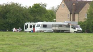 Travellers in Witney