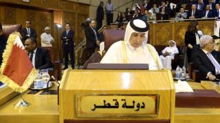 Qatar's State Minister for Foreign Affairs, Sultan bin Saad Al Muraikhi attends the Arab Foreign Minister's meeting which is held to discuss Israeli violations and restrictions on Al Aqsa Mosque, in Cairo, Egypt on July 27, 2017.