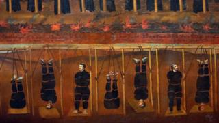 Jesuit martyrs of Japan. China, Macau, mid-17th century.